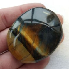 Pocket Palm Stone - Tigers Eye