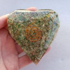 Orgonite Heart - Green Aventurine