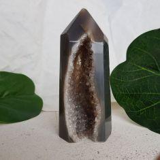Polished Agate Geode Point 003
