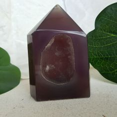 Polished Agate Geode Point 006