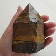 Polished Tigers Eye Point - Large