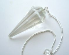 Clear Quartz Faceted Pendulum
