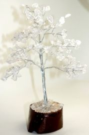Clear Qtz Tree Medium 012