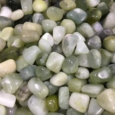 Chinese New Jade Tumbled Stones 250gms