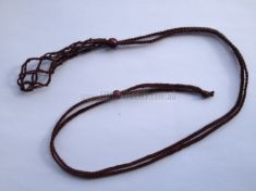 Net Cage Necklace - Brown