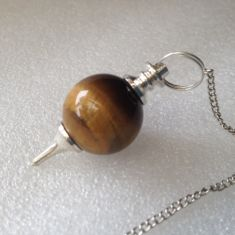 Tigers Eye Ball Pendulums