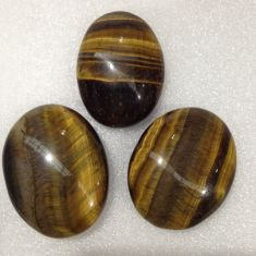 Palm Stone Tigers Eye 3pc