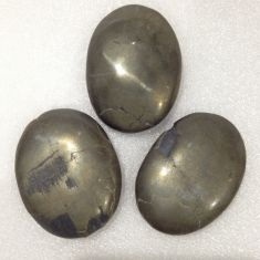 Palm Stone Pyrite 3pc
