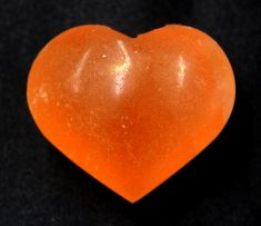 Selenite Heart - 5cm Orange