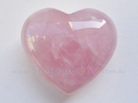 Rose Quartz Heart 40mm
