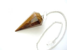 Tiger's Eye Faceted Pendulum