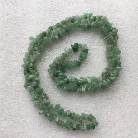 Light Green Aventurine Chip Necklace