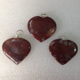 Red Jasper Heart Pendant02 - 1pc